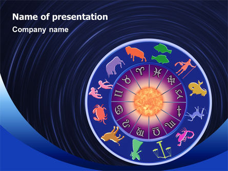 Horoscope PowerPoint Template, 02286, Religious/Spiritual — PoweredTemplate.com