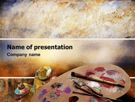 Art & Entertainment: Palette PowerPoint Template #02287