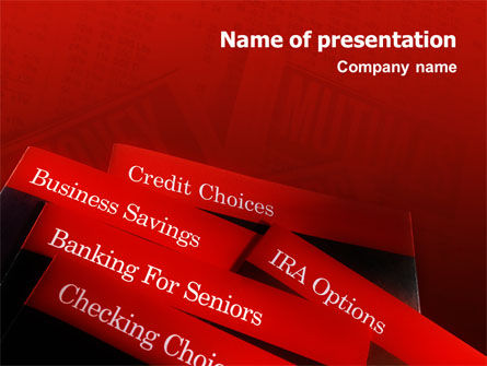 Savings and Credits PowerPoint Template, 02289, Business Concepts — PoweredTemplate.com