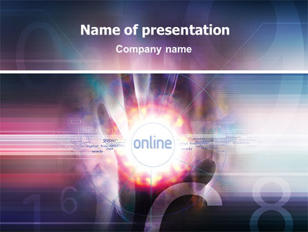 Online Services PowerPoint Template, 02290, Technology and Science — PoweredTemplate.com