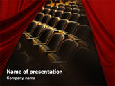 Art & Entertainment: Cinema Hall PowerPoint Template #02291
