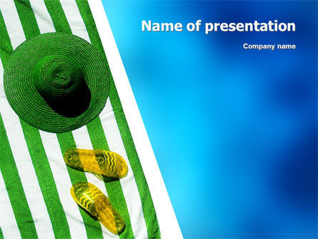 Beach Accessories PowerPoint Template, 02293, Careers/Industry — PoweredTemplate.com