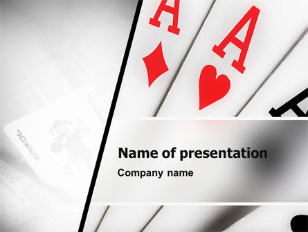 Playing Cards PowerPoint Template, 02295, Careers/Industry — PoweredTemplate.com