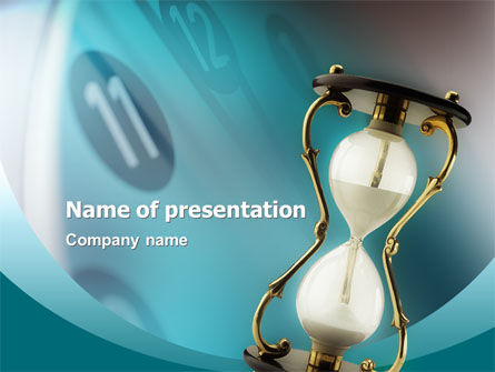 Passing Time PowerPoint Template, 02296, Consulting — PoweredTemplate.com
