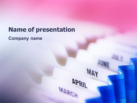 Months PowerPoint Template, 02297, Business — PoweredTemplate.com