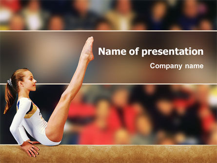 Sports: Artistic Gymnastics PowerPoint Template #02299