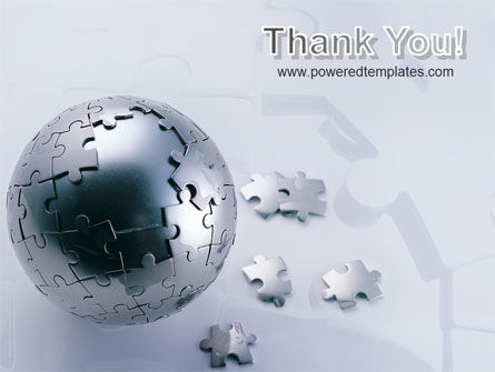 World Puzzle PowerPoint Template Slide 20