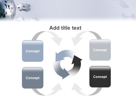 World Puzzle PowerPoint Template Slide 6