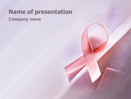 Breast Cancer Awareness PowerPoint Template, 02302, Religious/Spiritual — PoweredTemplate.com
