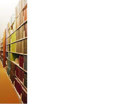 Library Book Shelves PowerPoint Template, Slide 3, 02303, Education & Training — PoweredTemplate.com