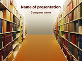 Education & Training: Library Book Shelves PowerPoint Template #02303