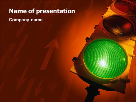 Business Concepts: Light Signal PowerPoint Template #02304
