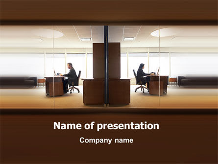 Office Space PowerPoint Template, 02306, Business — PoweredTemplate.com