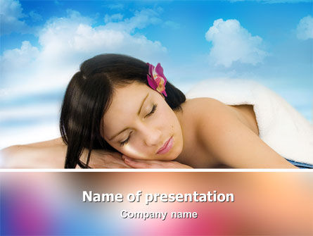 Spa PowerPoint Template, 02307, Health and Recreation — PoweredTemplate.com
