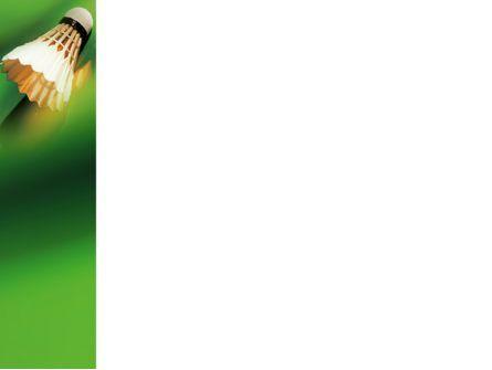 Badminton PowerPoint Template, Slide 3, 02308, Sports — PoweredTemplate.com