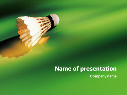 Badminton PowerPoint Template, 02308, Sports — PoweredTemplate.com