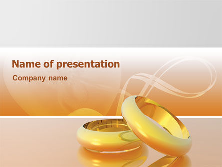 Wedding Rings PowerPoint Template, 02309, Holiday/Special Occasion — PoweredTemplate.com