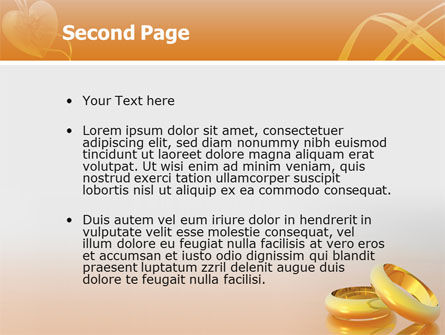 Wedding Rings PowerPoint Template Slide 2