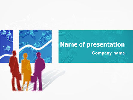 Work In The Office PowerPoint Template, 02311, Business — PoweredTemplate.com
