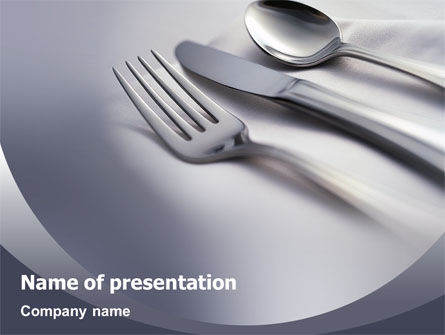 Dinner PowerPoint Template, 02312, Careers/Industry — PoweredTemplate.com