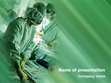 Scrub Nurse PowerPoint Template, 02313, Medical — PoweredTemplate.com