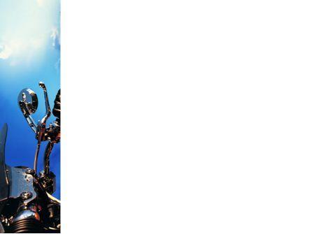 Biker PowerPoint Template, Slide 3, 02315, Cars and Transportation — PoweredTemplate.com
