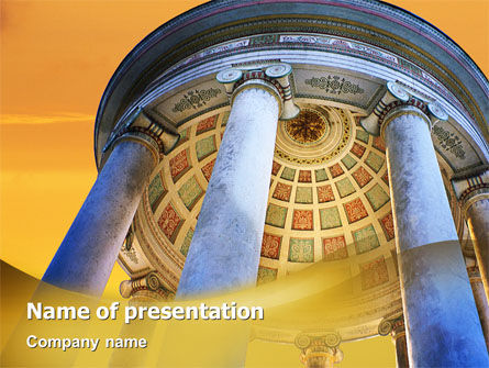 Construction: Rotunda PowerPoint Template #02318