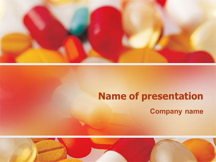 Pills In Collage PowerPoint Template, 02319, Medical — PoweredTemplate.com