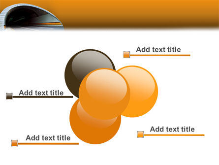 Tunnel On An Orange Background PowerPoint Template Slide 10
