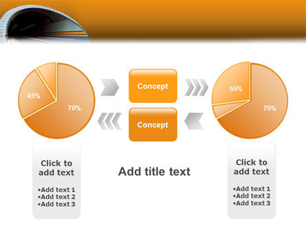 Tunnel On An Orange Background PowerPoint Template Slide 11
