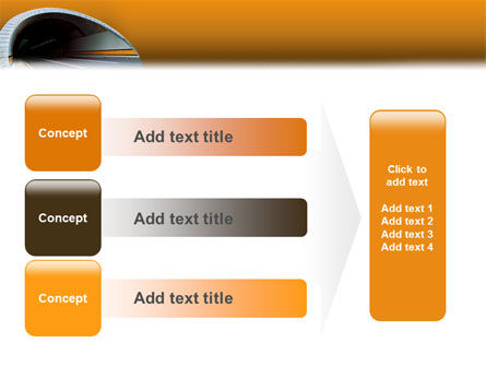 Tunnel On An Orange Background PowerPoint Template Slide 12