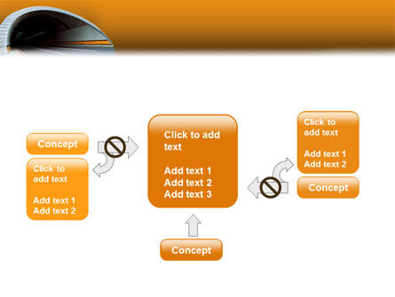 Tunnel On An Orange Background PowerPoint Template Slide 13