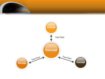 Tunnel On An Orange Background PowerPoint Template Slide 14