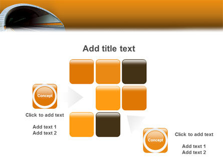 Tunnel On An Orange Background PowerPoint Template Slide 16