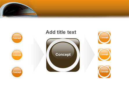 Tunnel On An Orange Background PowerPoint Template Slide 17