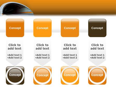Tunnel On An Orange Background PowerPoint Template Slide 18