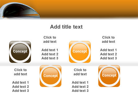 Tunnel On An Orange Background PowerPoint Template Slide 19