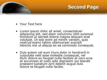 Tunnel On An Orange Background PowerPoint Template, Slide 2, 02320, Construction — PoweredTemplate.com