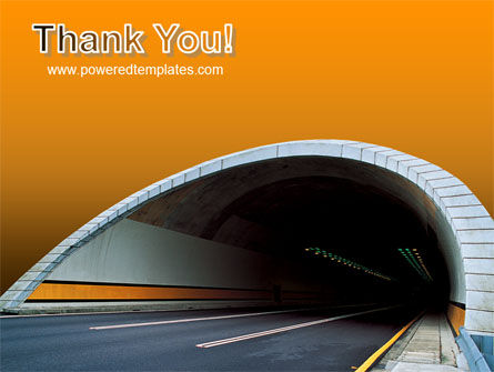 Tunnel On An Orange Background PowerPoint Template Slide 20
