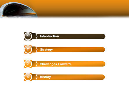 Tunnel On An Orange Background PowerPoint Template, Slide 3, 02320, Construction — PoweredTemplate.com