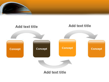 Tunnel On An Orange Background PowerPoint Template, Slide 4, 02320, Construction — PoweredTemplate.com