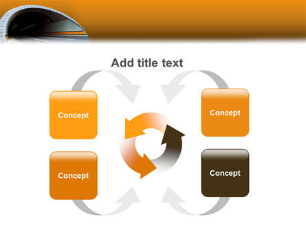 Tunnel On An Orange Background PowerPoint Template Slide 6