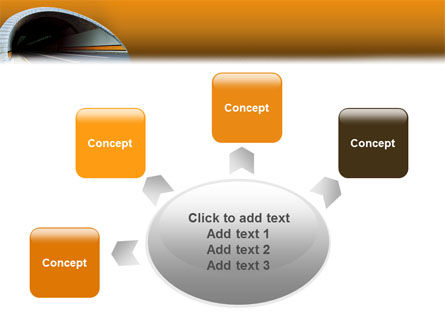 Tunnel On An Orange Background PowerPoint Template Slide 7