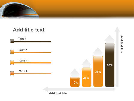 Tunnel On An Orange Background PowerPoint Template Slide 8