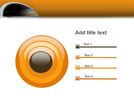 Tunnel On An Orange Background PowerPoint Template Slide 9