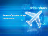 Cars and Transportation: Modelo do PowerPoint - vias aéreas #02321