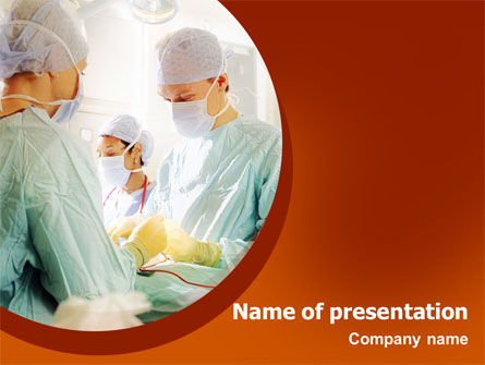 Medical: Urgent Surgical Help PowerPoint Template #02324