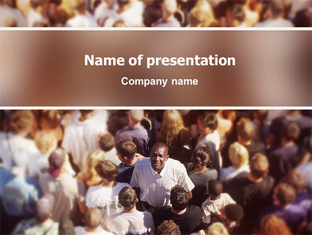 In a Crowd PowerPoint Template, 02325, People — PoweredTemplate.com