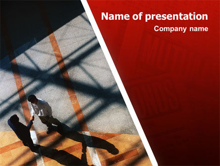 Business: Handshake PowerPoint Template #02326