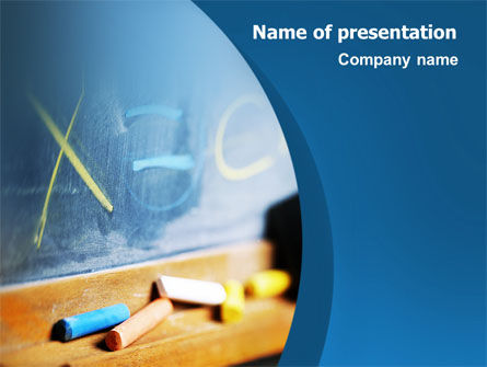 Education & Training: School Learning PowerPoint Template #02328